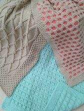 Baby Knitting Pattern Aran Pram Covers/Blanket  three for the price of one   484