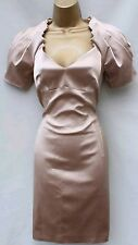 karen millen cocktail dress champagne size 10 new with tags rrp £190