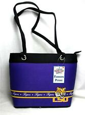 LSU Tigers Ladies Bandwidth Fashion Purse Louisiana Tote Handbag Game Day #23296