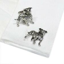Silver Pewter Staffordshire Bull Terrier Handmade in England Dog Cufflinks New