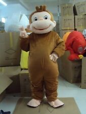 Special offer!Curious George Monkey adult mascot costume fancy dress