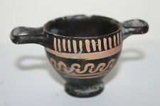 QUALITY ANCIENT GREEK POTTERY XENON SKYPHOS 4th BC  WINE CUP