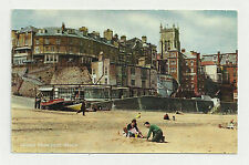 C1960'S COLOUR RP POSTCARD CROMER FROM EAST BEACH POPPYLAND TEA ROOMS BEHIND