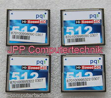 4x CF 512MB Karte für Thin Client Fujitsu S500 S550 Hi-Speed Compact Flash pqi