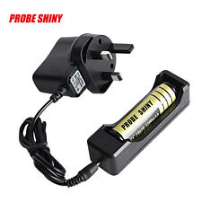 LI-ION Battery Charger For Rechargeable 18650 3.7V Battery Travel UK Plug UK