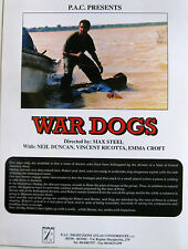 WAR DOGS brochure film 1994 Stelvio Massi Neil Duncan Vincent Ricotta Emma Croft