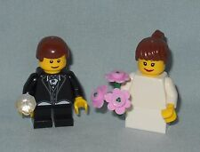 ***NEW LEGO WEDDING BRUNETTE FLOWER GIRL AND RING BEARER MINIFIGURES,MINIFIGS***