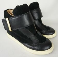 See by Chloe Winter Sneakers Black Suede Leather Shoes Size 36.5