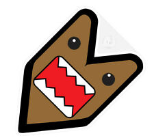 ## JDM WAKABA BADGE DOMOKUN DOMO KUN Car Decal Flag not vinyl sticker ##