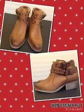 BETSEY JOHNSON Sz 7.5 WOMEN' WILLOW ANKLE BOOTS ,TAN RETAIL $110
