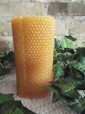 "HIGHLY SCENTED HONEYCOMB ROLLED LOOK PILLAR CANDLE - 3X6"" - YOU PICK FRAGRANCE"