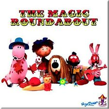 Magic Roundabout (Group) square fridge magnet (ro)