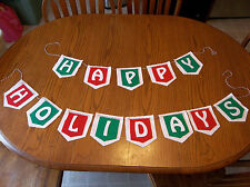 Homemade Happy Holidays Banner Felt Craft Kit - Make your own