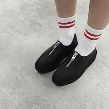 UNIF Output Creeper Black Leather Women's Slip On Shoes size 8 new