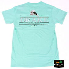 NEW DRAKE WATERFOWL SOUTHERN COLLECTION DROPPING DRAKE T-SHIRT SEAFOAM XL