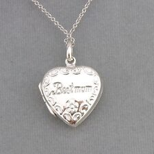 925 Sterling Silver Heart Best Mum Locket Pendant Necklace Fashion Jewelry New