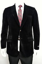Men's Black Velvet Sportcoat Size 54L NEW Blazer