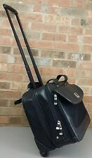 Kenneth Cole Reaction Rolling Laptop Wheeled Bag Leather Black Briefcase