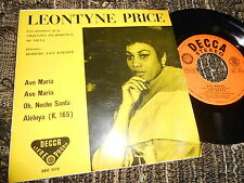 "LEONTYNE PRICE Ave Maria +3 EP 45 7"" 1962 Decca SPAIN SPANISH EDITION"
