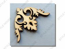 40mm ORNATE WOODEN SHAPES WOOD ONLAY WEDDING ALBUM SCRAPBOOK CARD DECORATION