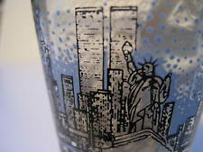 Vintage TWIN TOWERS New York Skyline Shot Glass Empire State Liberty Original