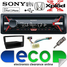 HONDA Civic ep2 00-06 cdx-g1100u CD mp3 USB Aux In Autoradio Nero Kit di montaggio