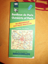 carte michelin 101  banlieue de paris  1989
