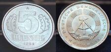 5 Pfennig DDR 1982 fast st, matt sehr selten in dieser Erhaltung