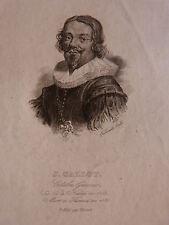 Gravure PORTRAIT DE JACQUES CALLOT graveur Ferdinand - début 19e s. BLAISOT