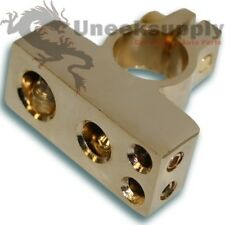 0 4 & TWO 8 Gauge  Negative Battery Terminal Car Amp Install Gold