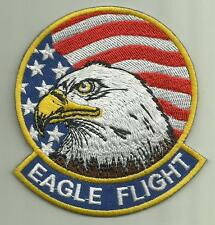 EAGLE FLIGHT F-15 AIRCRAFT PATCH USAF PILOT USMC NAVY USA FLAG FLY BALD EAGLE
