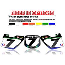 2000-2014 KX 65 KAWASAKI NUMBER PLATE BACKGROUND GRAPHICS MOTOCROSS BIKE DECALS