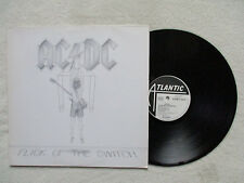 """LP AC/DC """"Flick of the switch"""" Embossed Sleeve ATLANTIC 78-0100-1 GERMANY §"""
