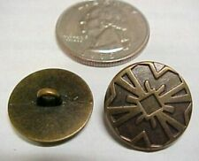 "Set of 30 Bronze Medieval Buttons, Gothic Sewing .700"" Steampunk Clothing Italy"