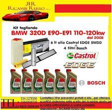 Kit tagliando olio CASTROL EDGE 5W30 6LT+4 FILTRI BOSCH BMW 320D E90-E91