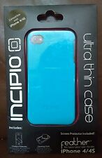 iPhone 4 and 4S Ultra Thin Case and Screen Protector Set-Light Blue