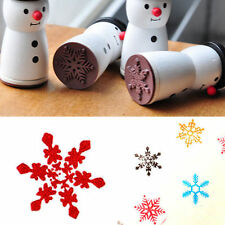 Nice Cute Wooden Snowman Stamp Snowflake XMAS Gift Scrapbooking Card Making DN