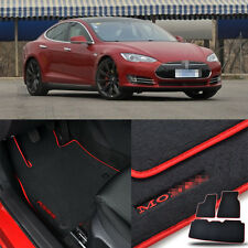 Solid Nylon Auto Odorless Floor Mats Liner Carpet Fit For Tesla Model S P85 2014