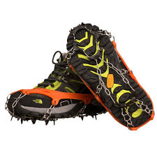 Anti Slip 11-Teeth POINT Ice Snow Shoes Spike Grip Boots Crampons Grippers