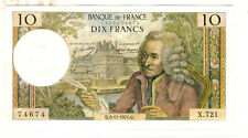 My world collection  FRANCE 1971Q 10Franc Banknote  VERY NICE pre-Euro