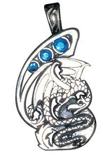 New Fire and Ice Fantasy  Dragon Necklace Pendant Silver Plated Pewter Jewelry