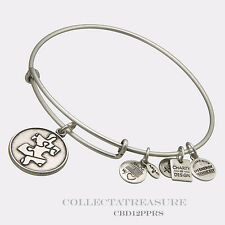 Authentic Alex and Ani Piece of the Puzzle Rafaelian Silver Charm Bangle CBD
