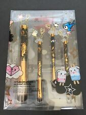 Tokidoki Pittura Brush Set 24 Karat Edition With Charms Make Up Brand New
