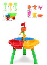 KIDS SAND WATER TABLE GARDEN INDOOR OUTDOOR SANDPIT FUN PLAY SET BUCKET SPADE UK