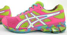 Asics Gel-Frantic 7 Womens Running Shoes Hot Pink Neon Green White Sz 9.5