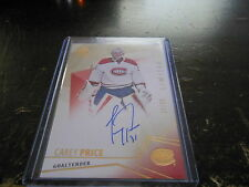2015-16 SP AUTHENTIC CAREY PRICE #46 PARALLEL LIMITED AUTO #7/25