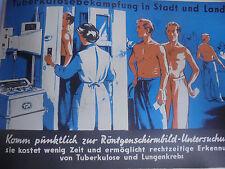 25904 DDR Plakat Tuberkulosebekämpfung in Stadt und Land Hygienemuseum 1958 TBC