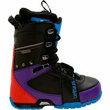 Celsius Cirrus Lace New 2011 Mens Snowboard Boots Black/Cyan Size 8