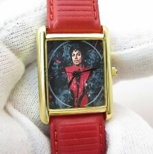 MICHAEL JACKSON,Thriller, Small Square RARE! UNISEX/Kids CHARACTER WATCH,1309