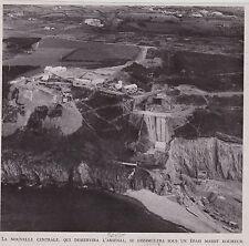 1948  --  BREST   CONSTRUCTION DE LA NOUVELLE CENTRALE   3B741